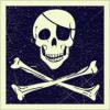 dinogrl: skull and crossbones