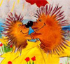 Ежжы или 2 wild crazy hedgehogs :-)