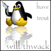 penguin, Linux, trout