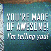You're made of awesome!