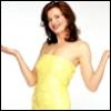 omg geena davis, omg yellow sequin dress, geena davis is so hot