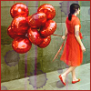 petitevanou: girl balloons