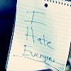 Christine H.: Hate. Everyone.