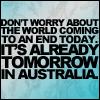 tomorrow in australia