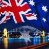 flag & bridge