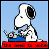 snoopy need to write by mefeather
