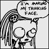 Fritters: Lenore - Thinking Face by refche
