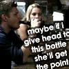 Felis: Dean blowing a bottle