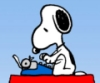 writing - snoopy