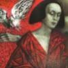 женщина  и голубь