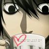 L drinks tea