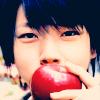 *shrugs*: Massu and an apple. (Newest OTP?)
