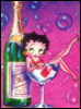 betty boop, glass