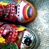 shoes/rainbows/colourful