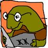 reading turtle