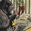 comics: monkey typing
