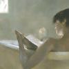 books - reading woman (bath)