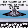 writing: voices in head