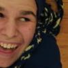 floor, yarn dreads, grin, smile