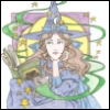 witch, coloring, searchpress