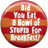Badge Did you eat a bowl of stupid for b
