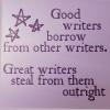 Good writers borrow
