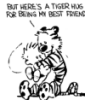 Rob: tiger hug - calvin and hobbes