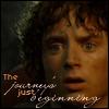 frodo - journey's begun