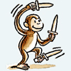 Diary of an Ass Monkey: silly: monkey knife fight