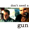 criminal minds gideon and morgan gun