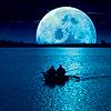 Луна и лодка