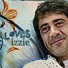 """Denny - floral motif """"Loves Izzie"""""""