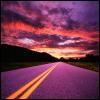 sundown, highway