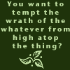 tempt the wrath of the whatever
