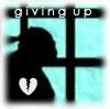 Giving up../hopeless/sad