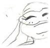 Leonardo Hamato -female version: amused/bemused/relaxed