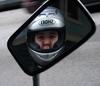 helmet in mirror