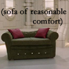 aces: sofa of reasonable comfort