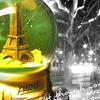 travel: paris snowglobe