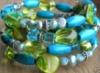 green, blue, bracelet, beads