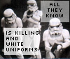 Killing & white uniforms