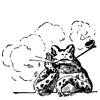 курящая лягушка