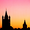 Köln Silhouette gegen Himmel