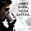 SPN: Dean - Brain Need Coffee