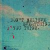 *believe vs think*