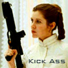 leia, gun, kick ass, woman