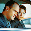 svu: elliot and olivia in the car