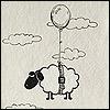 овца в облаках