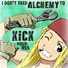 Jaclynn, duckie, Jackie, ToriKisu, JD: Winry kicks ass