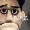 This IS my happy face Angel Puppet